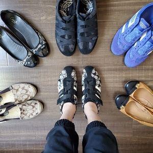 Coach velcro shoes